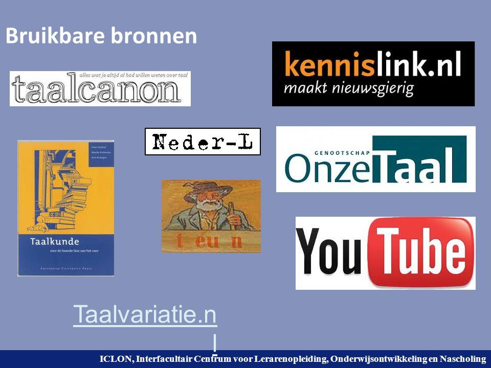 Bruikbare bronnen Taalvariatie.nl