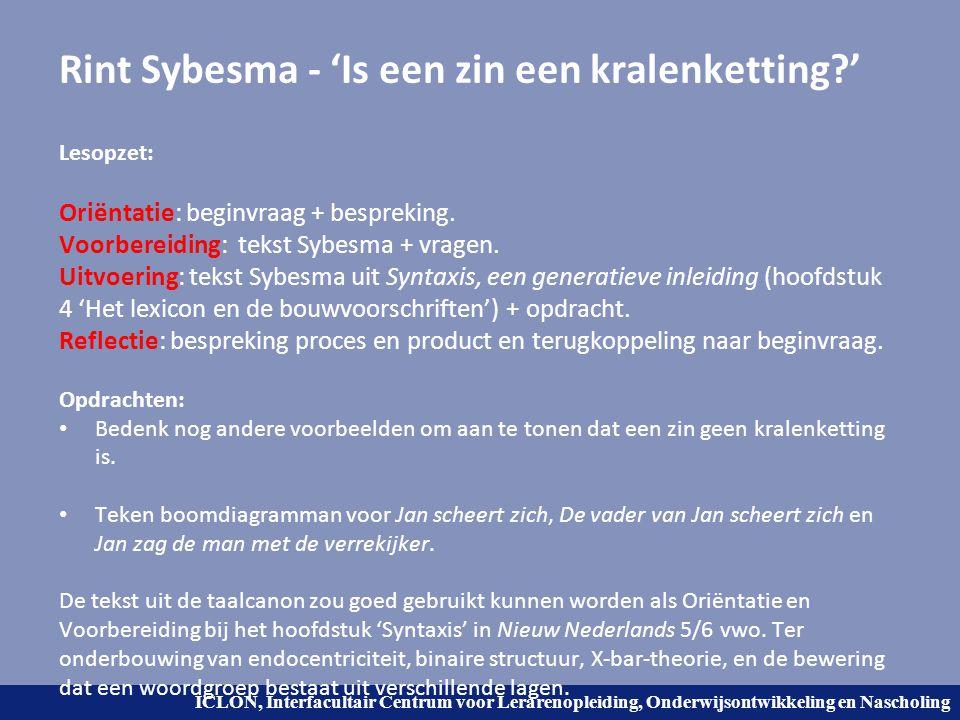 Rint Sybesma - 'Is een zin een kralenketting '