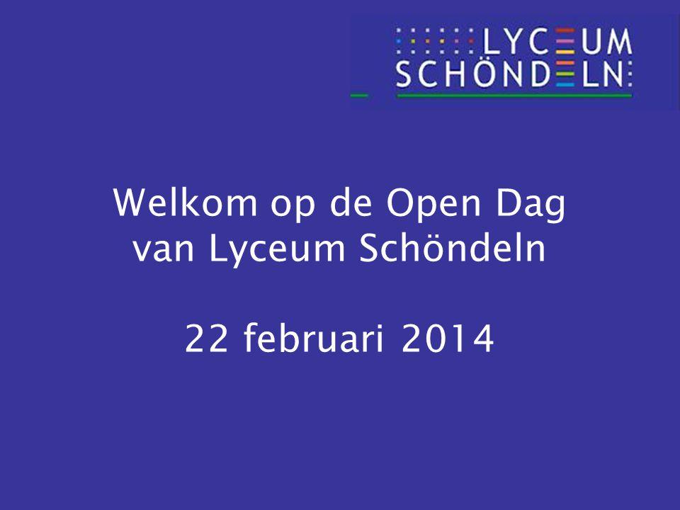 Welkom op de Open Dag van Lyceum Schöndeln 22 februari 2014