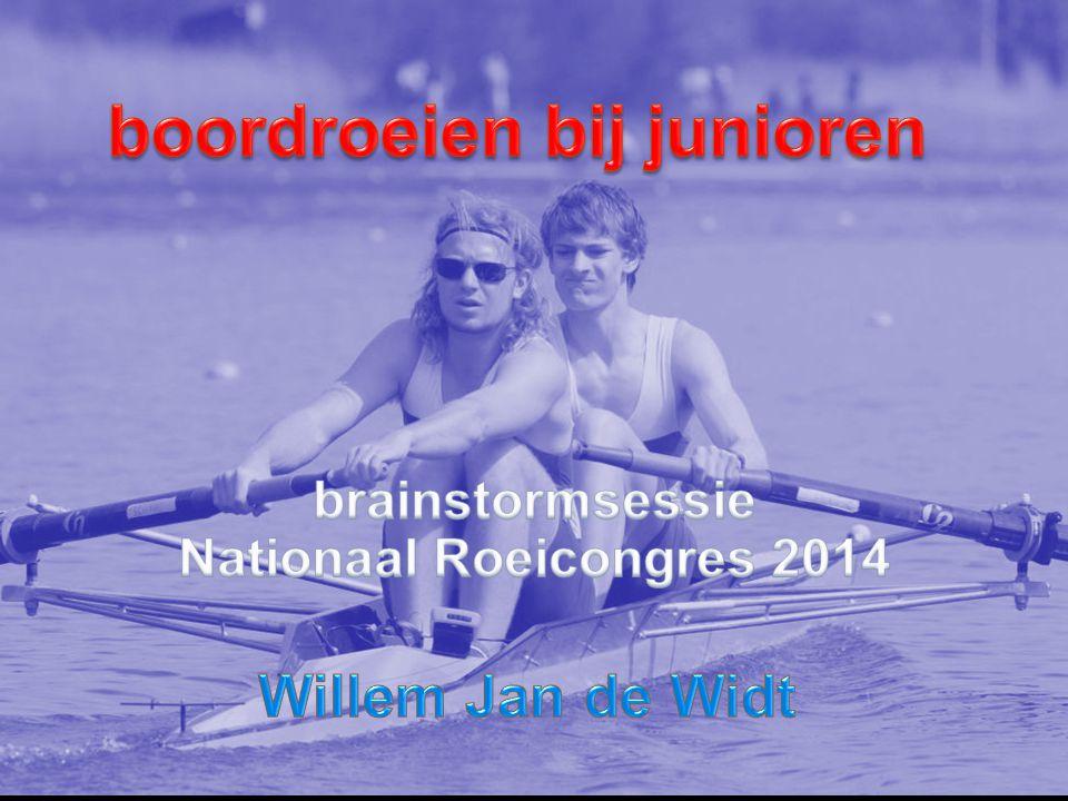 boordroeien bij junioren Nationaal Roeicongres 2014