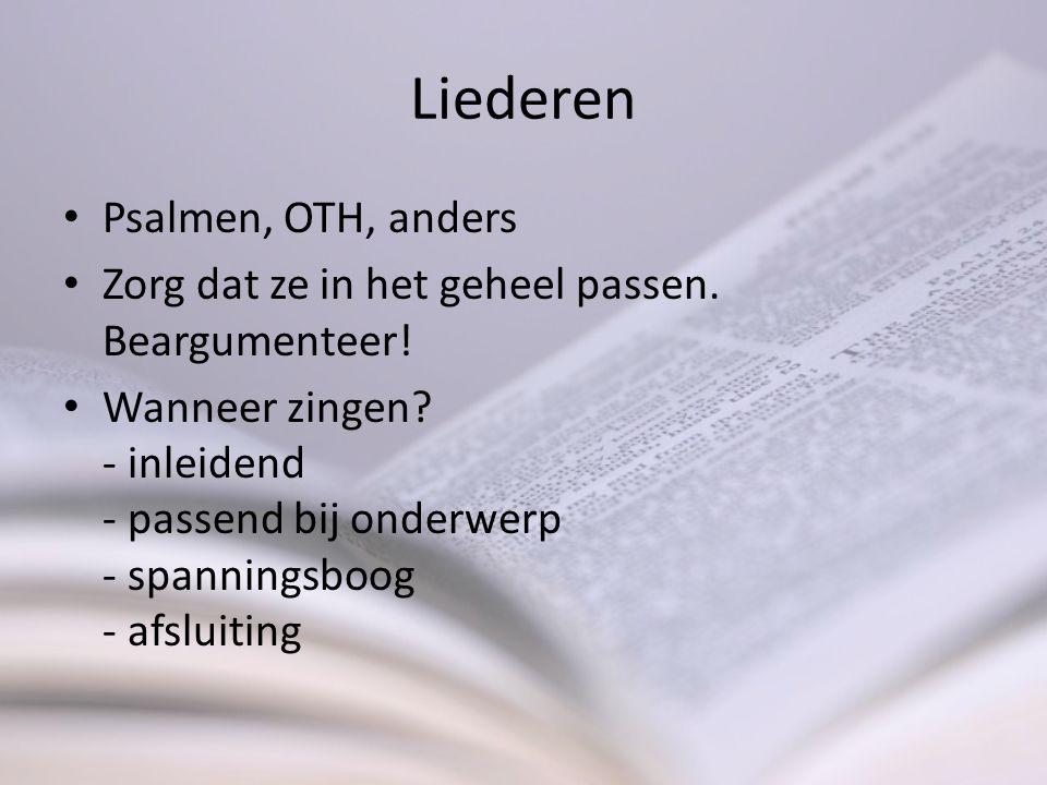 Liederen Psalmen, OTH, anders