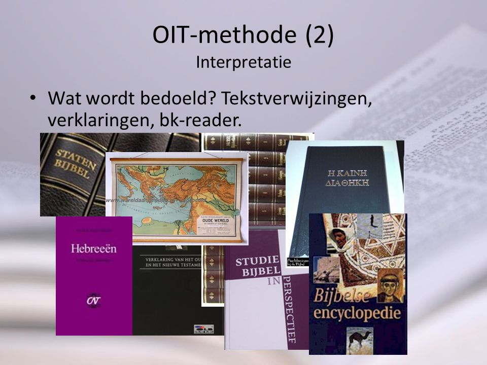 OIT-methode (2) Interpretatie