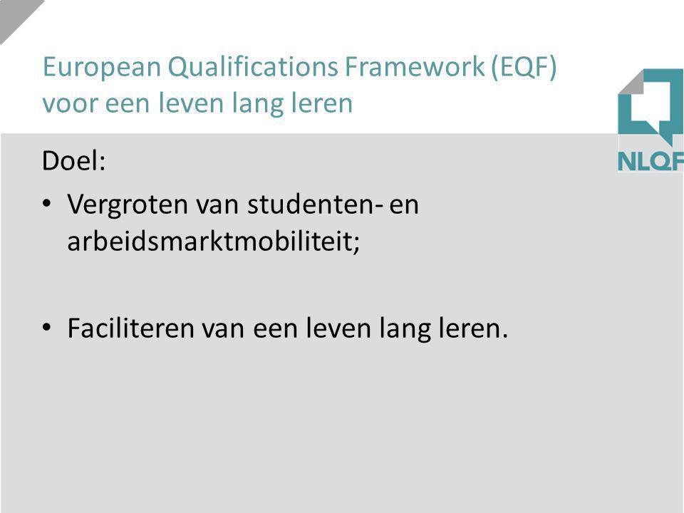 European Qualifications Framework (EQF) voor een leven lang leren