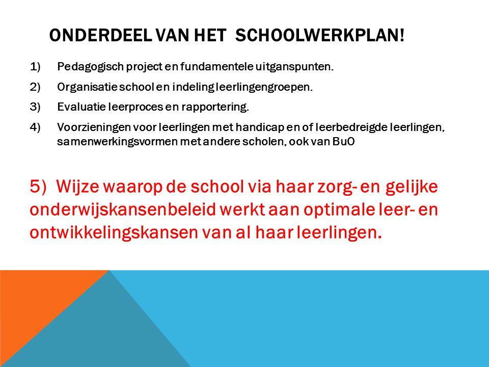 Onderdeel van het schoolwerkplan!