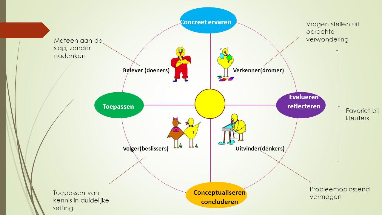 Conceptualiseren concluderen Evalueren reflecteren