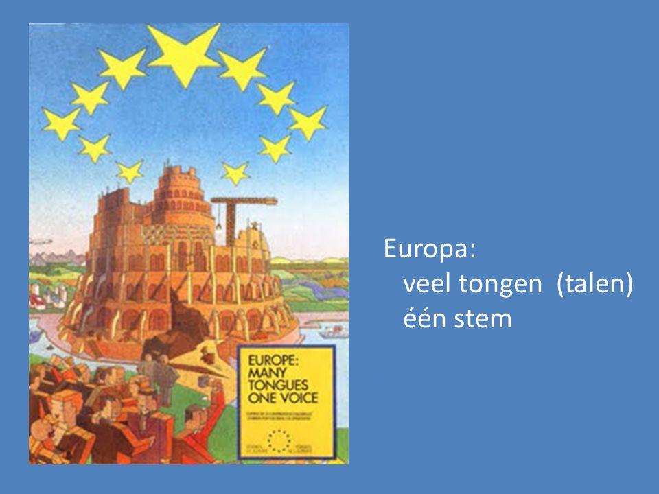 Europa: veel tongen (talen) één stem
