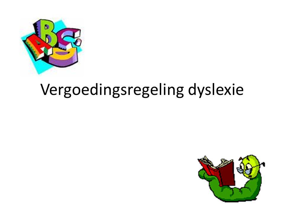 Vergoedingsregeling dyslexie