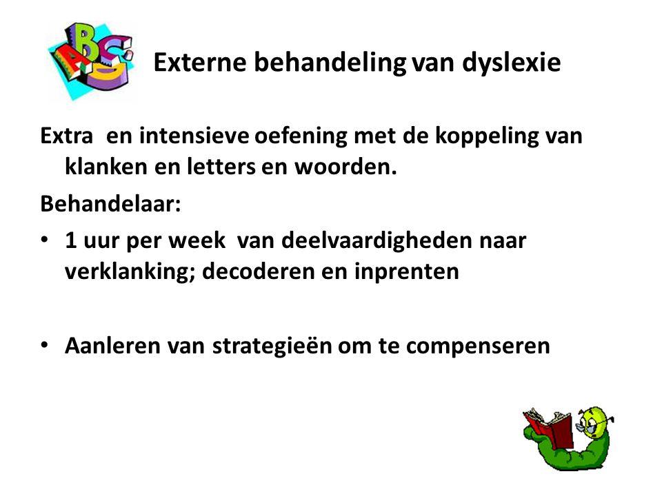 Externe behandeling van dyslexie