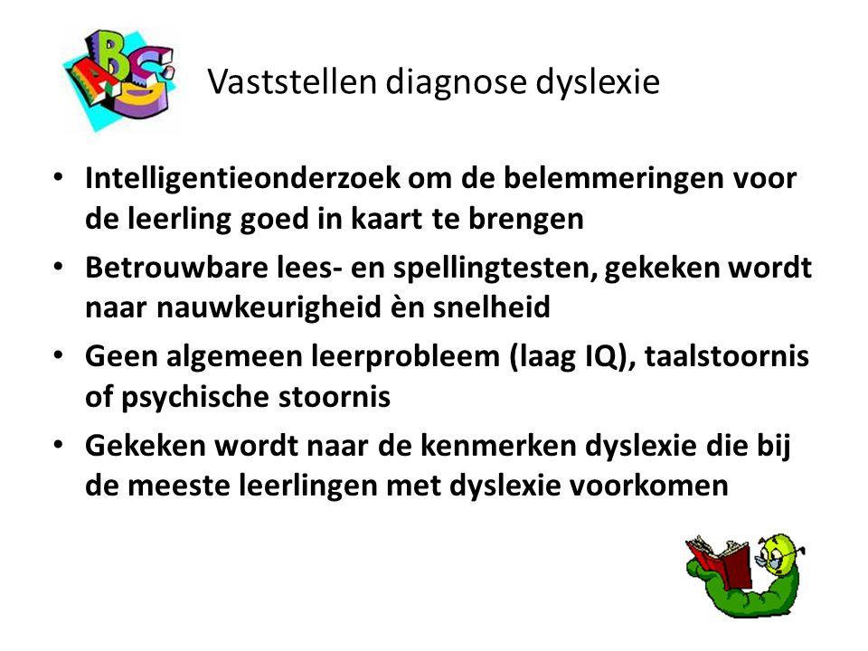 Vaststellen diagnose dyslexie