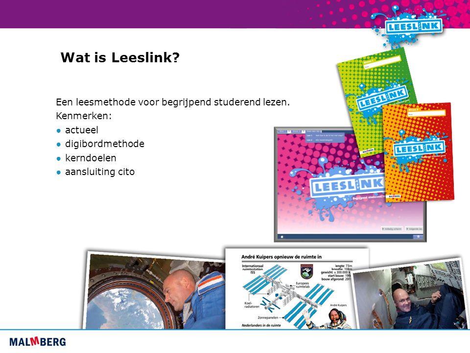 Wat is Leeslink Een leesmethode voor begrijpend studerend lezen.