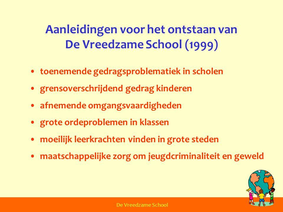Aanleidingen voor het ontstaan van De Vreedzame School (1999)