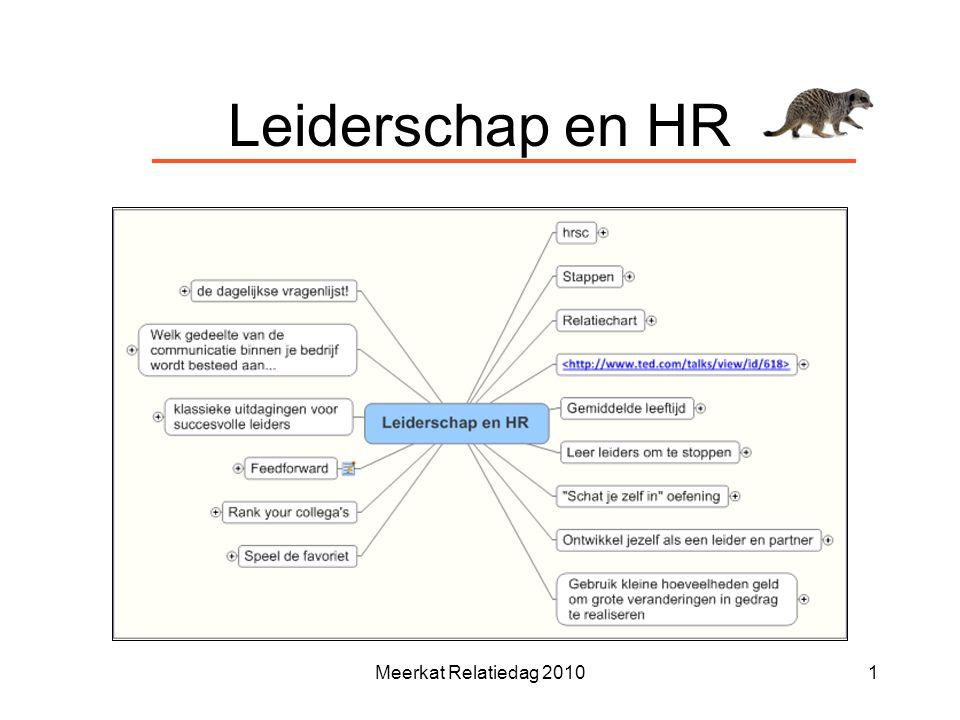 Leiderschap en HR Meerkat Relatiedag 2010