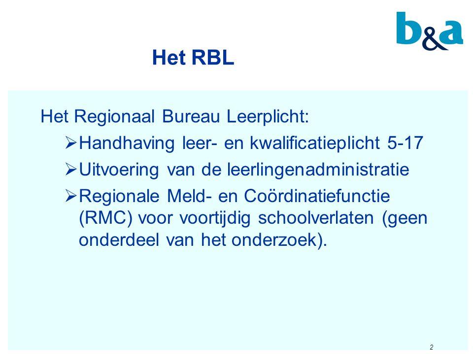 Het RBL Het Regionaal Bureau Leerplicht: