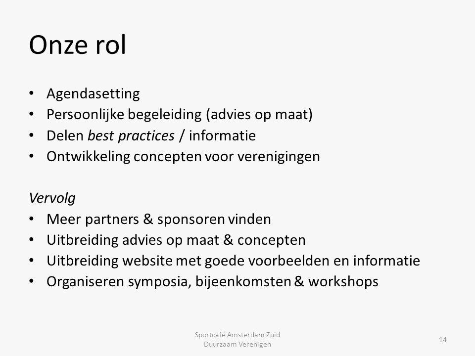 Meer informatie www.duurzaamverenigen.nl