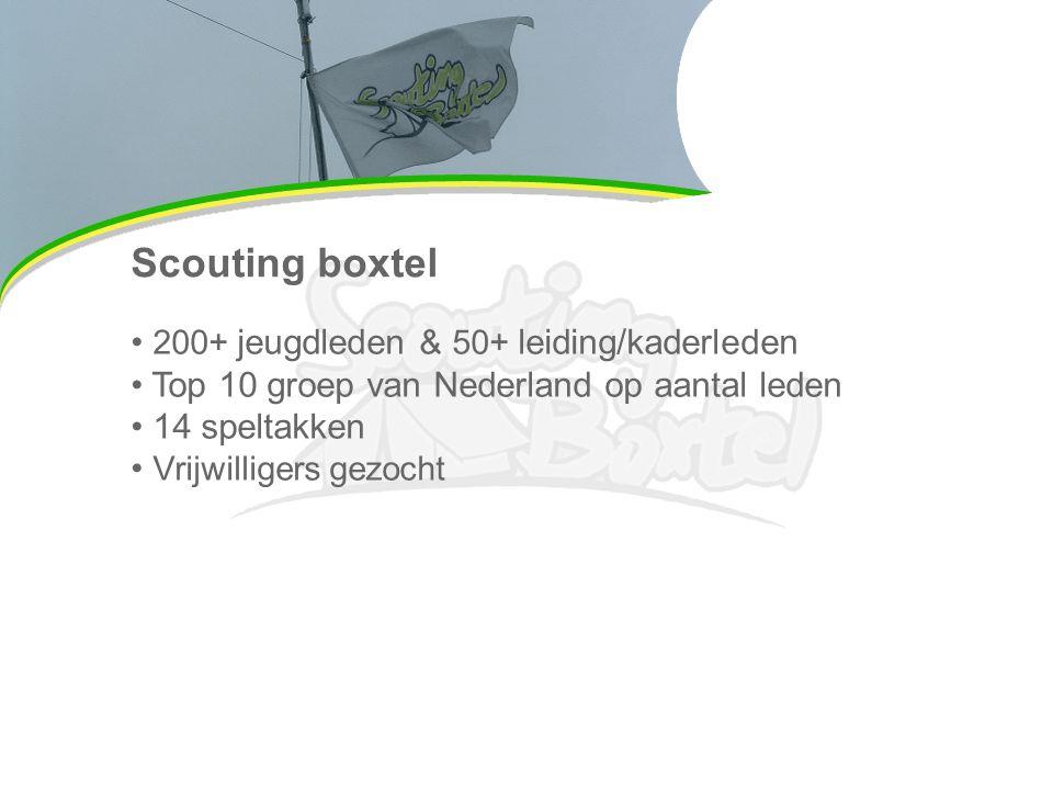 Scouting boxtel 200+ jeugdleden & 50+ leiding/kaderleden