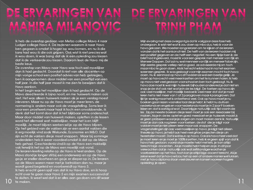 De ervaringen van Mahira milanovic De ervaringen van Trinh pham