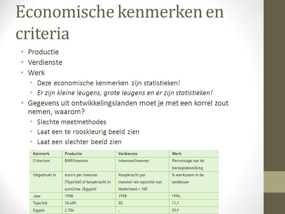 Economische kenmerken en criteria