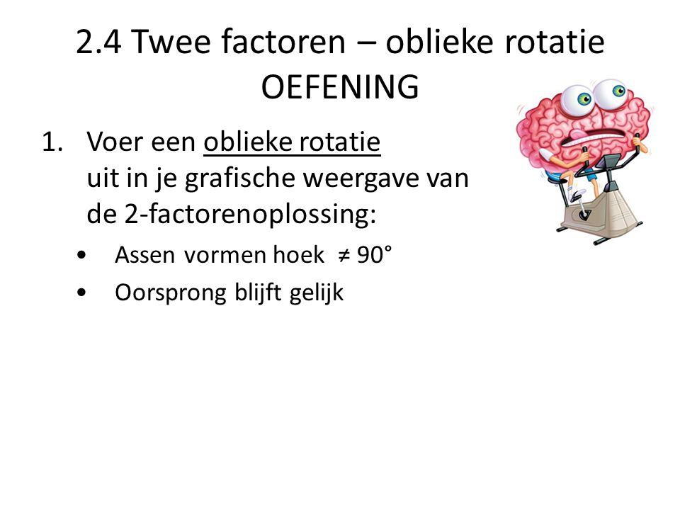 2.4 Twee factoren – oblieke rotatie OEFENING