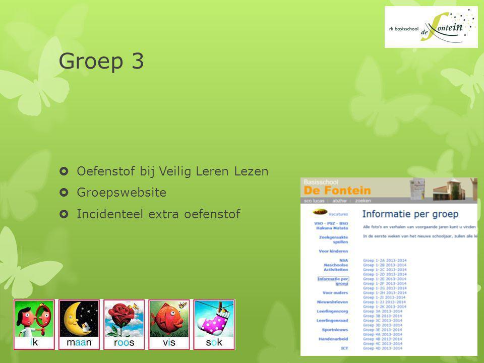 Groep 3 Oefenstof bij Veilig Leren Lezen Groepswebsite