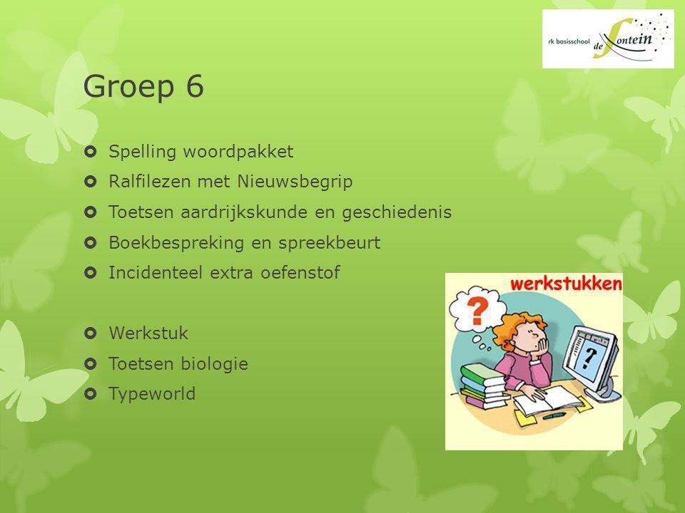 Groep 6 Spelling woordpakket Ralfilezen met Nieuwsbegrip