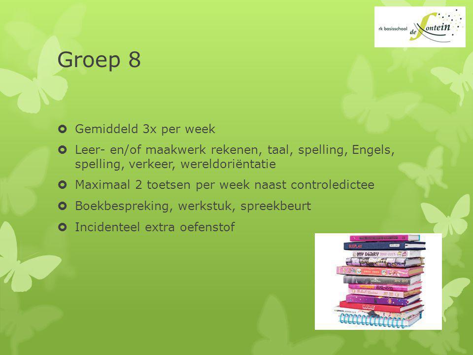 Groep 8 Gemiddeld 3x per week