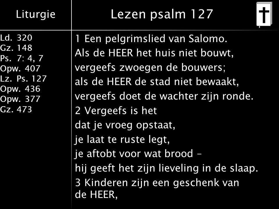Lezen psalm 127