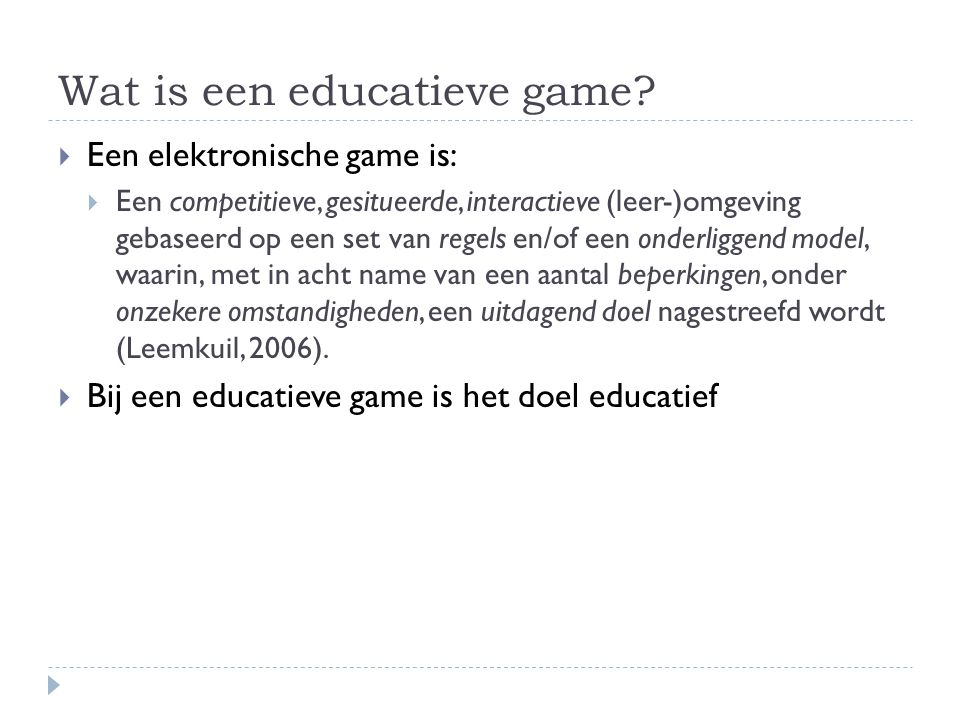 Wat is een educatieve game