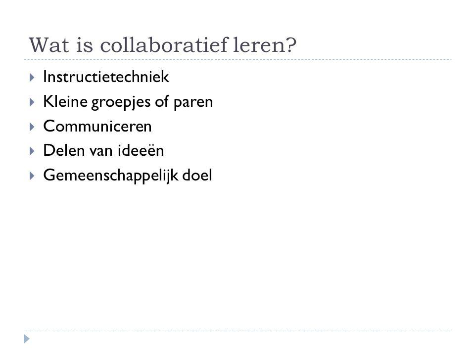 Wat is collaboratief leren
