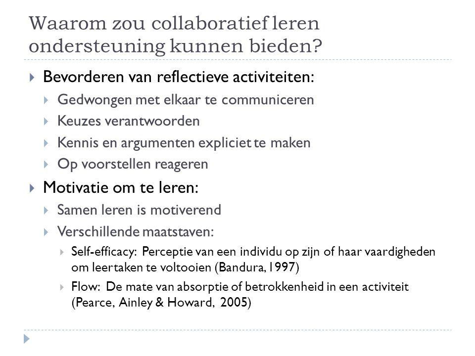 Waarom zou collaboratief leren ondersteuning kunnen bieden