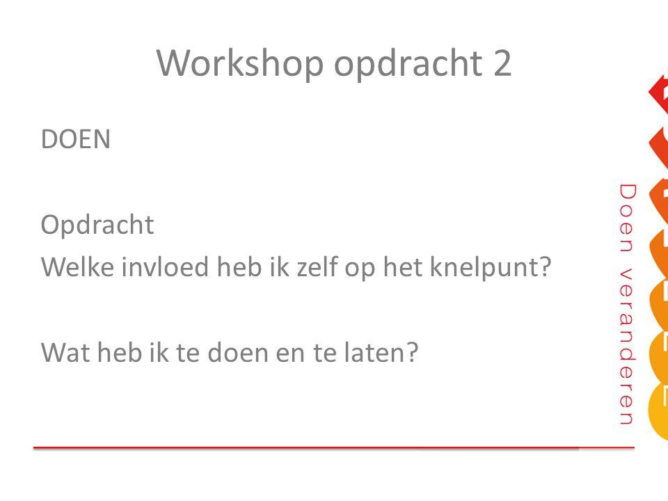 Workshop opdracht 2 DOEN Opdracht