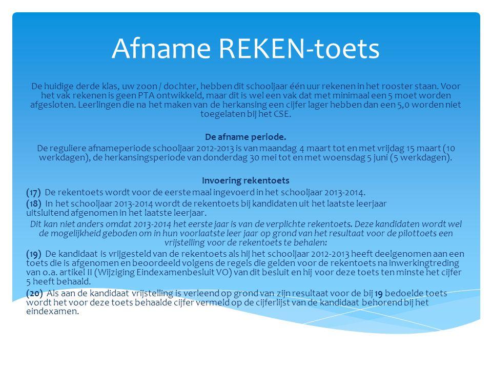 Afname REKEN-toets