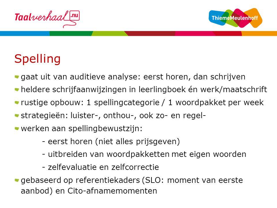 Spelling gaat uit van auditieve analyse: eerst horen, dan schrijven