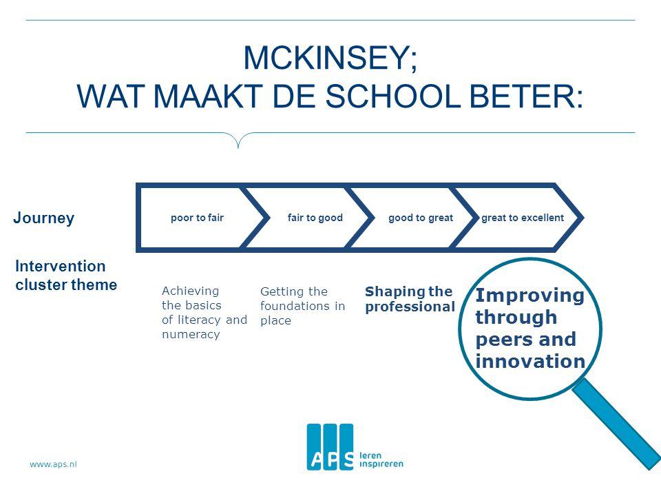 McKinsey; wat maakt de school beter: