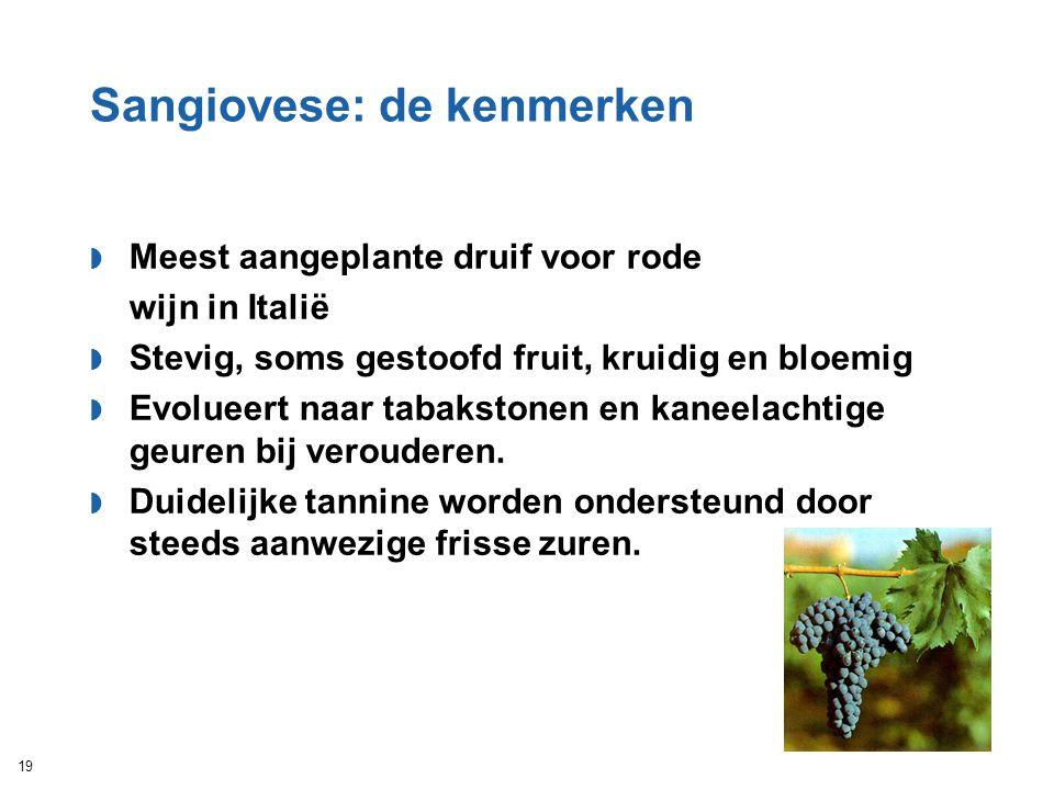 Sangiovese: de kenmerken