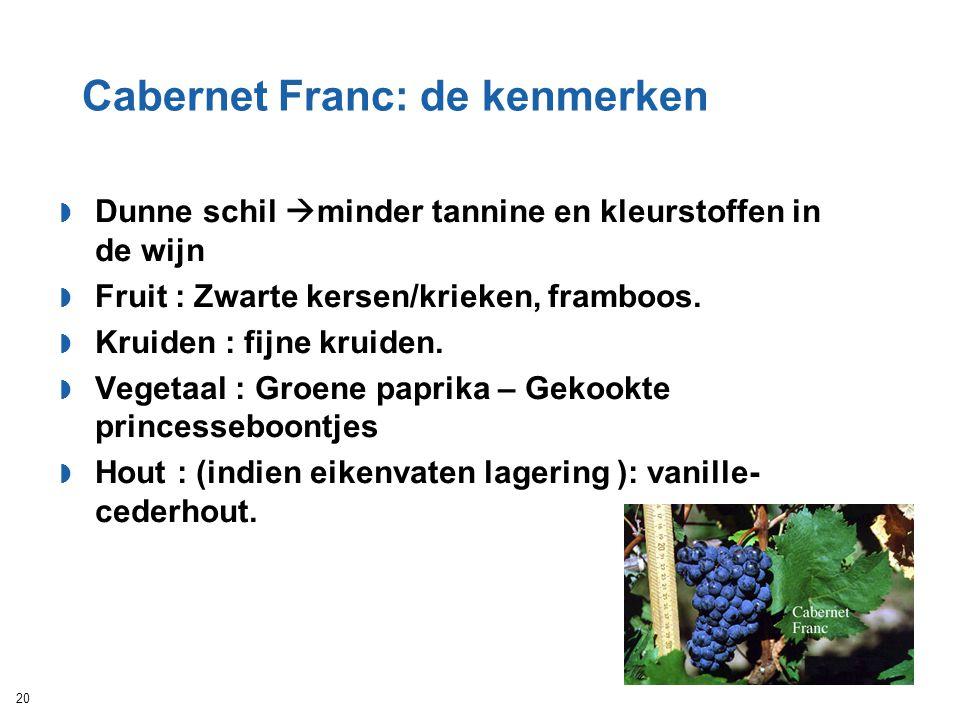 Cabernet Franc: de kenmerken