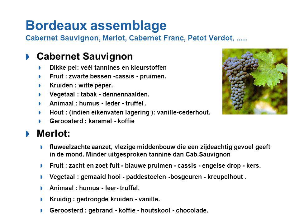 Bordeaux assemblage Cabernet Sauvignon, Merlot, Cabernet Franc, Petot Verdot, .....