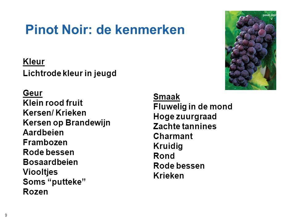 Pinot Noir: de kenmerken