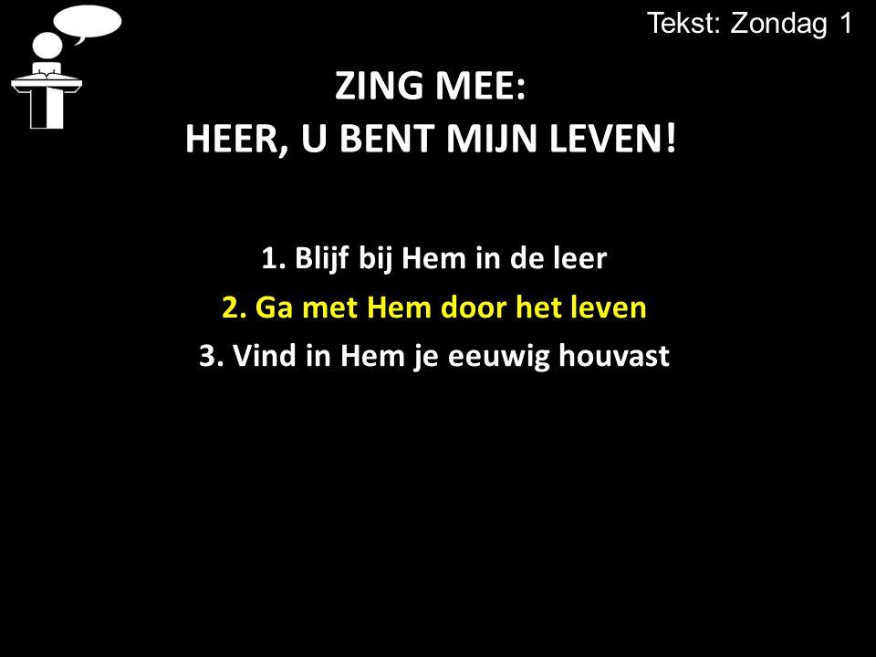 ZING MEE: HEER, U BENT MIJN LEVEN!