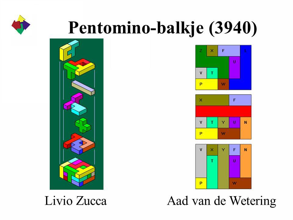 Pentomino-balkje (3940) Livio Zucca Aad van de Wetering