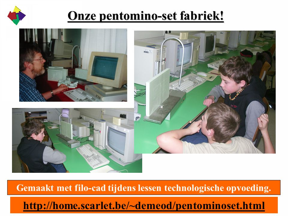 Onze pentomino-set fabriek!