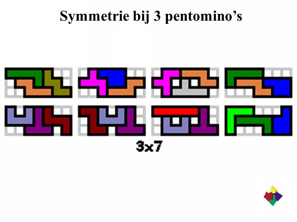 Symmetrie bij 3 pentomino's