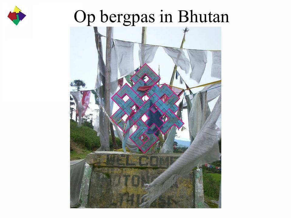 Op bergpas in Bhutan