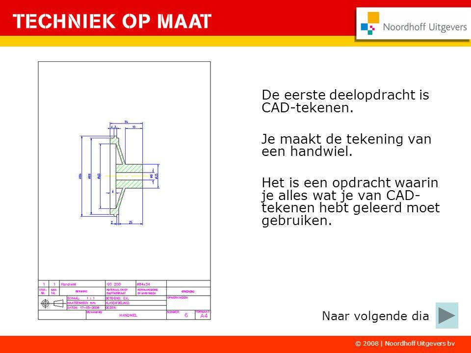 De eerste deelopdracht is CAD-tekenen.