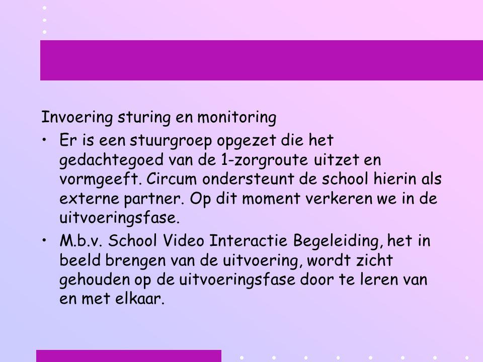 Invoering sturing en monitoring