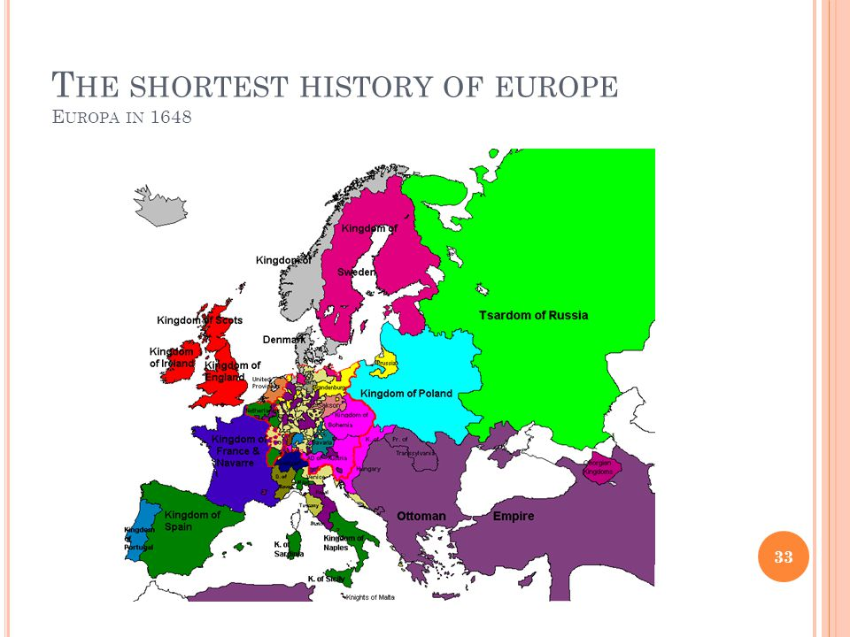 The shortest history of europe Europa in 1648
