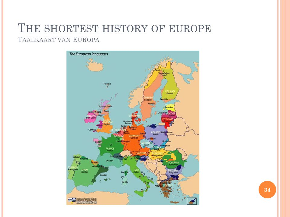 The shortest history of europe Taalkaart van Europa