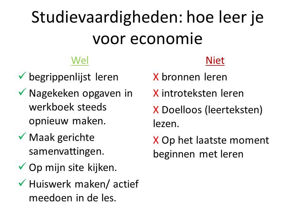 Studievaardigheden: hoe leer je voor economie