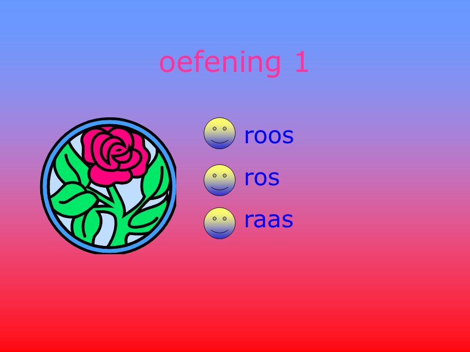 oefening 1 roos ros raas