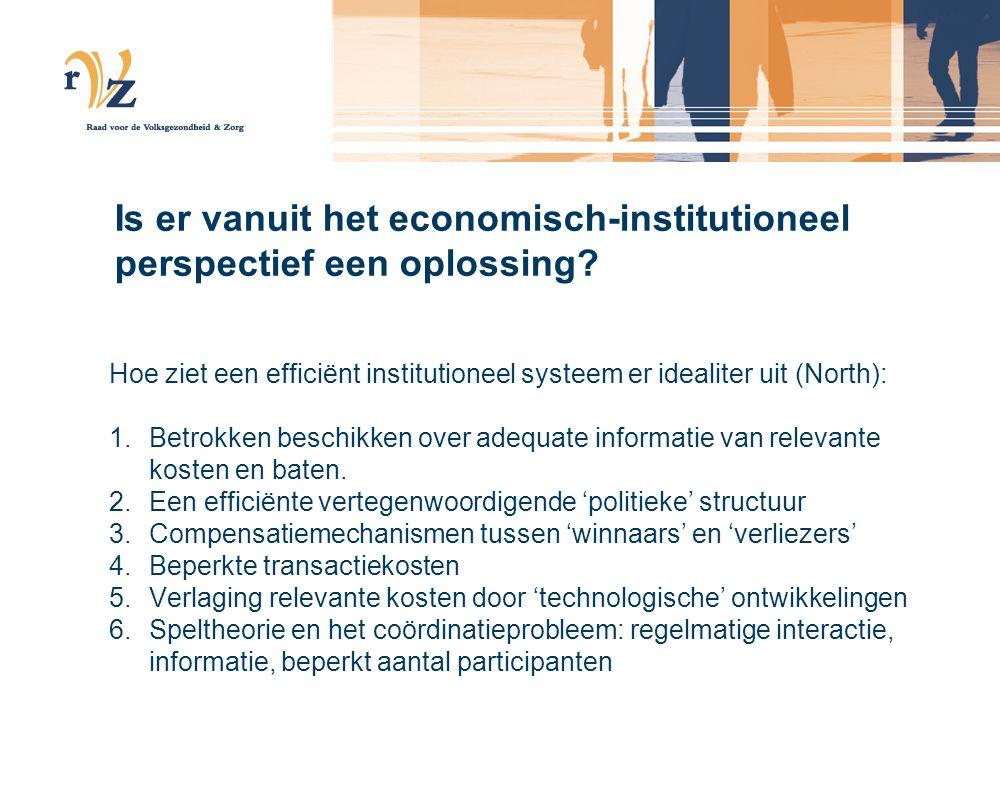 Is er vanuit het economisch-institutioneel perspectief een oplossing