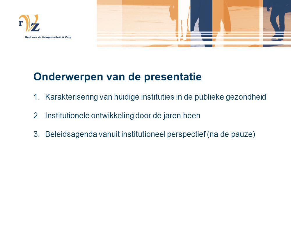Onderwerpen van de presentatie